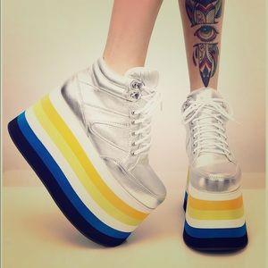 Shells London Platform Sneakers